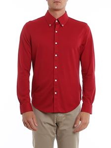 Brooks Brothers - Cotton piquet red shirt in red
