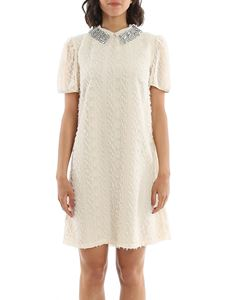 be Blumarine - Fil coupé embroidery dress in white
