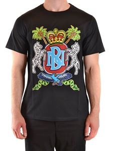 Neil Barrett - T-shirt con stampa Coat of Arms nera