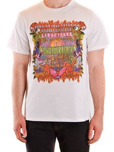 Neil Barrett - Art Collage print T-shirt in white