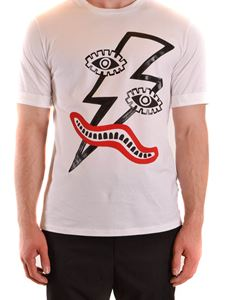 Neil Barrett - Graphic print T-shirt in white