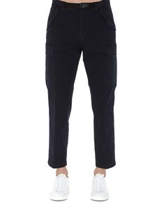 Department 5 - Stretch cargo pants in blue