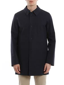 Herno - Reversible trench coat in dark blue and dove grey