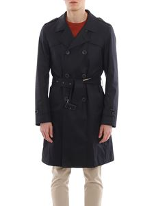 Herno - Cotton trench coat in blue