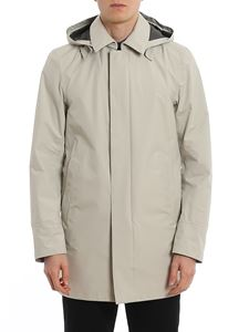 Herno - Laminar raincoat in grey