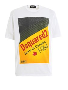 Dsquared2 - Dsquared2 Born in Canada 1-964 T-shirt in white
