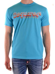 Dsquared2 - Logo print T-shirt in light blue