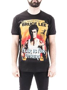 Dsquared2 - T-shirt con stampa Bruce Lee nera