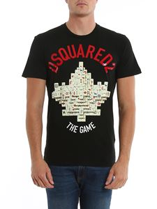 Dsquared2 - T-shirt The Game nera