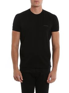 Dsquared2 - Embossed logo cotton T-shirt in black