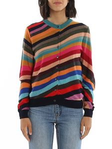 Paul Smith - Cardigan a righe multicolor in lana