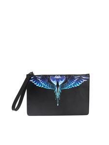 Marcelo Burlon County Of Milan - Wings pouch in black and turquoise