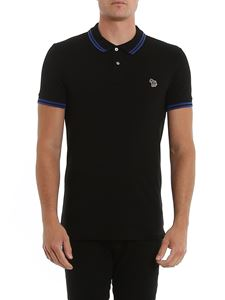 Paul Smith - Multicolor patch cotton piqué polo shirt in blue