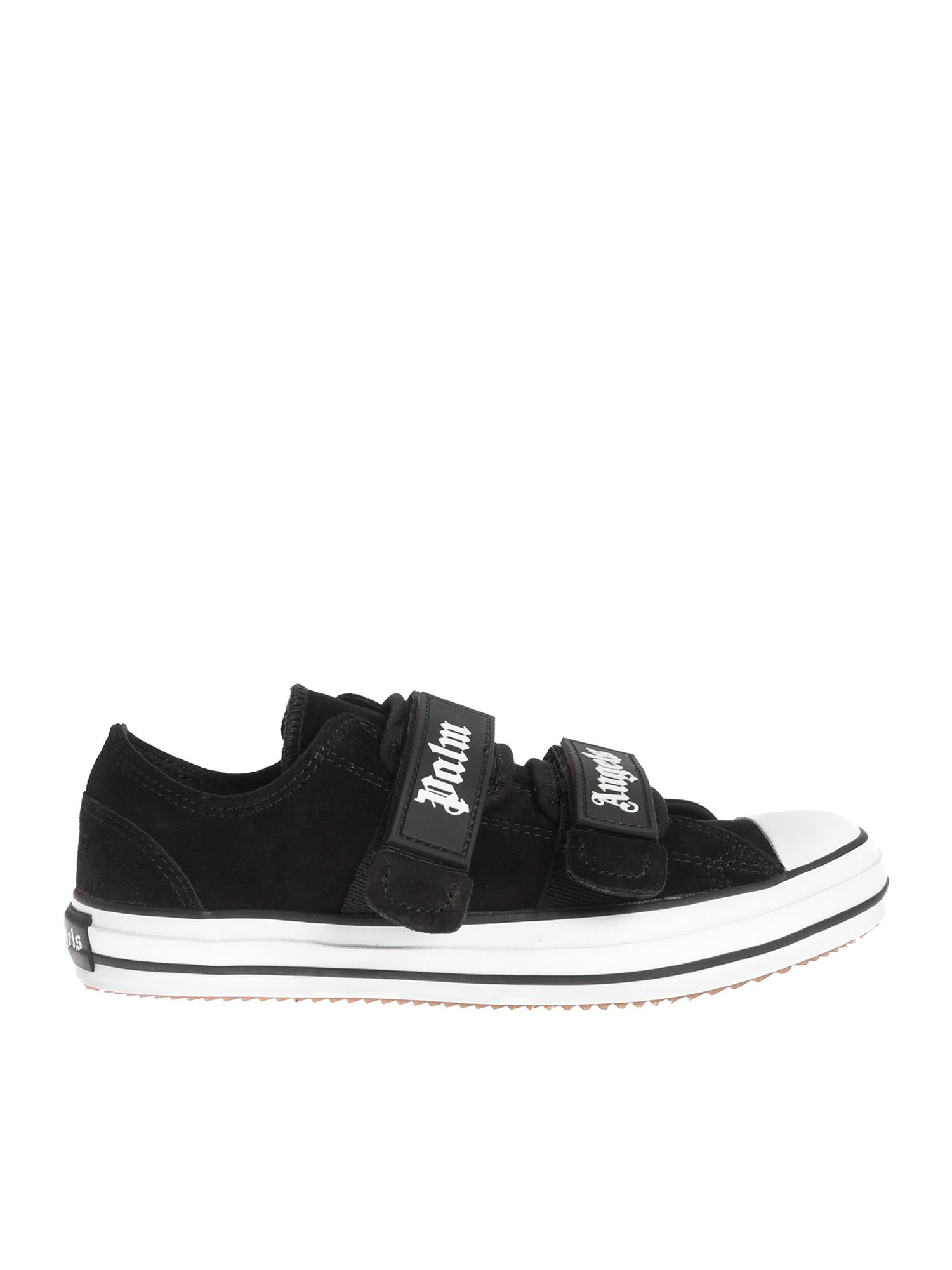 Palm Angels VELCRO VULCANIZED SNEAKERS IN BLACK
