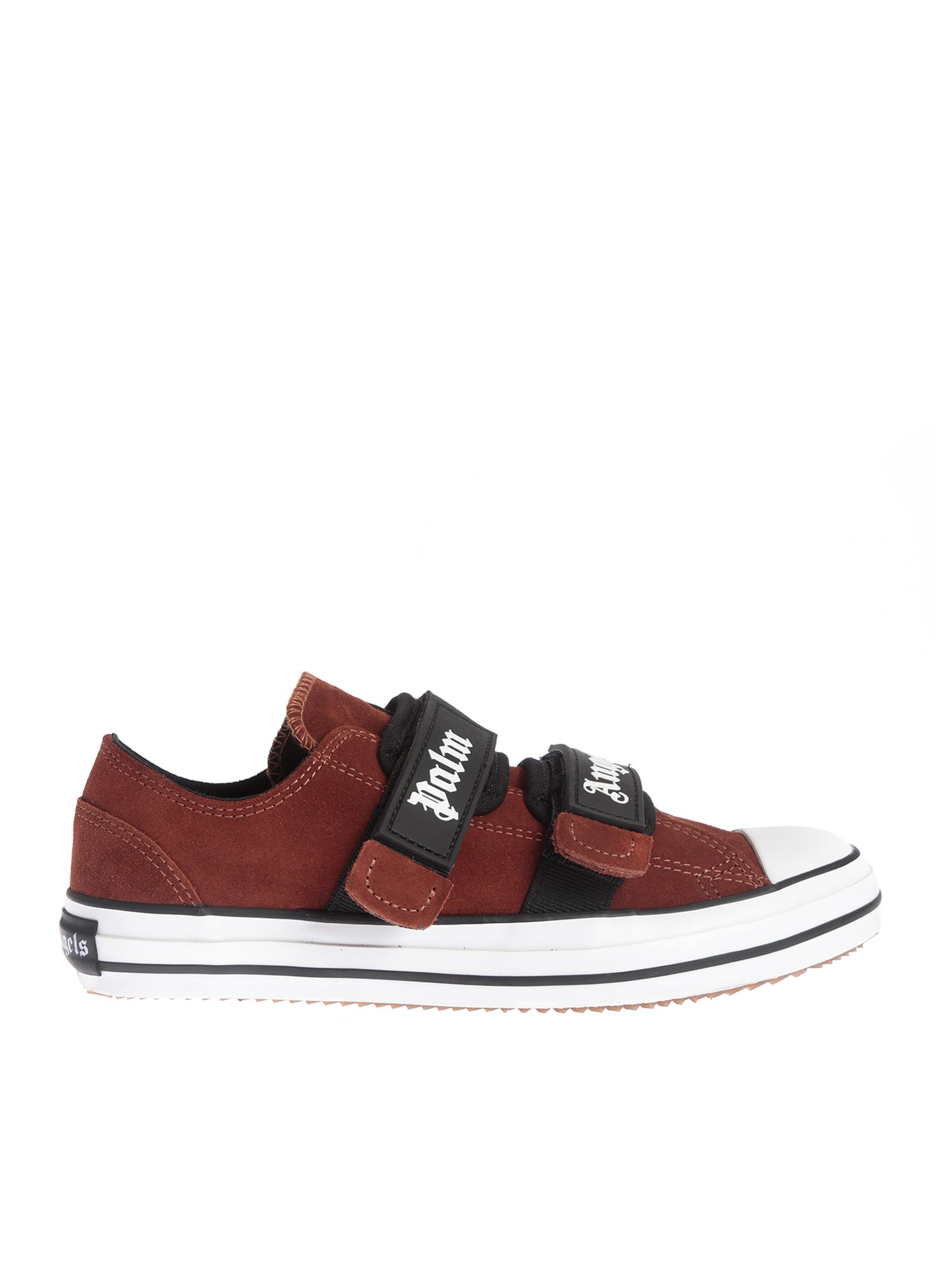 Palm Angels VELCRO VULCANIZED SNEAKERS IN BROWN