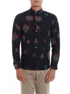 Paul Smith - Stylised flower printed shirt in blue
