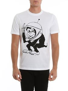 Paul Smith - Space Monkey print T-shirt in white
