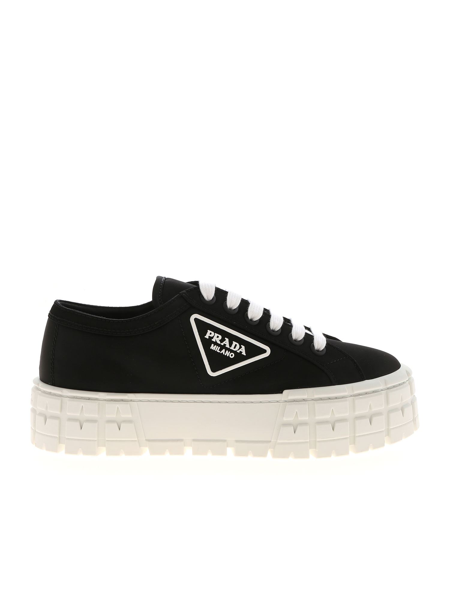 Prada PLATFORM SNEAKERS IN BLACK