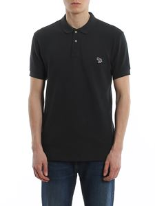 Paul Smith - Logo patch piqué polo shirt