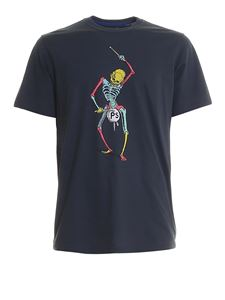 Paul Smith - Skeleton print organic cotton T-shirt
