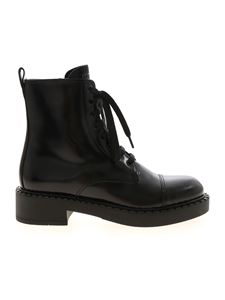 Prada - Shiny ankle boots in black