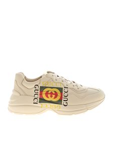 Gucci - Rhyton sneakers with GG logo in ivory color