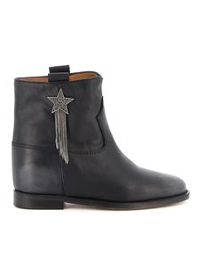 Via Roma 15 - Booties with fringed star in black