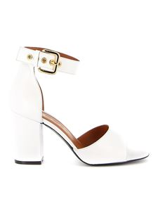 Via Roma 15 - Gold-tone buckled sandals in white