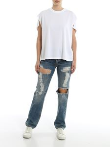 Givenchy - Destroyed jeans in white