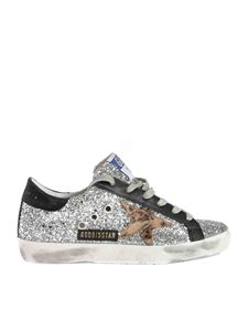 Golden Goose - Super-Star total glitter sneakers in silver