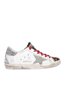 Golden Goose - Super-Star sneakers in white featuring glitter