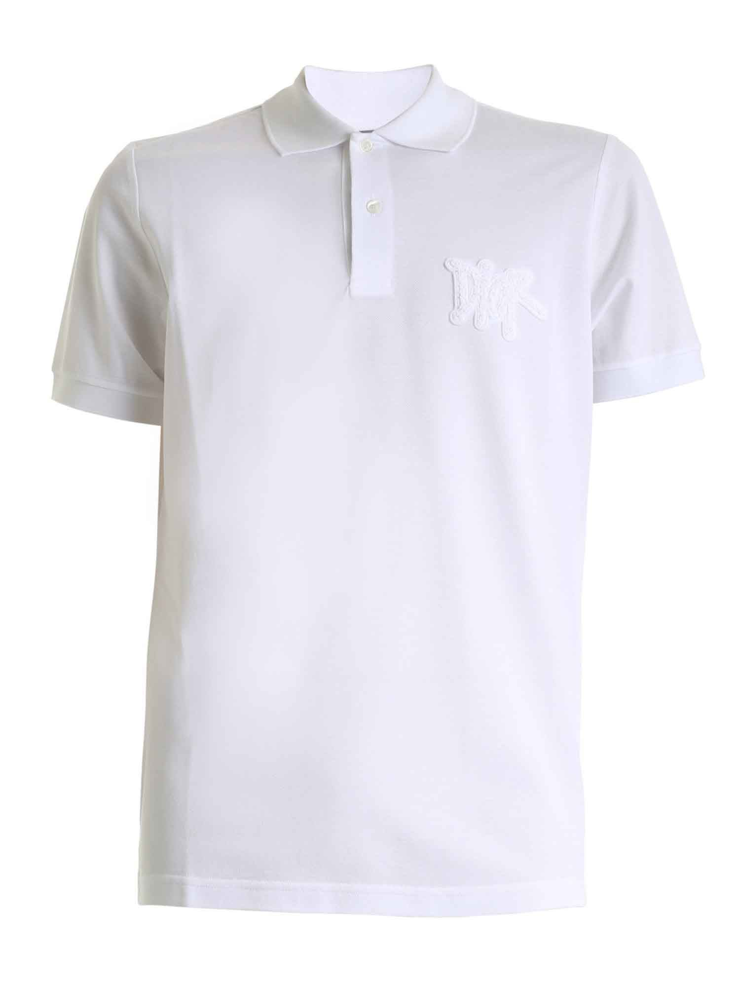 Dior AND SHAWN POLO SHIRT IN WHITE