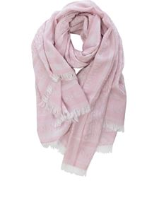Dondup - Viscose and modal blend stole in pink