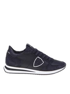 Philippe Model - Trpx sneakers in blue featuring suede details