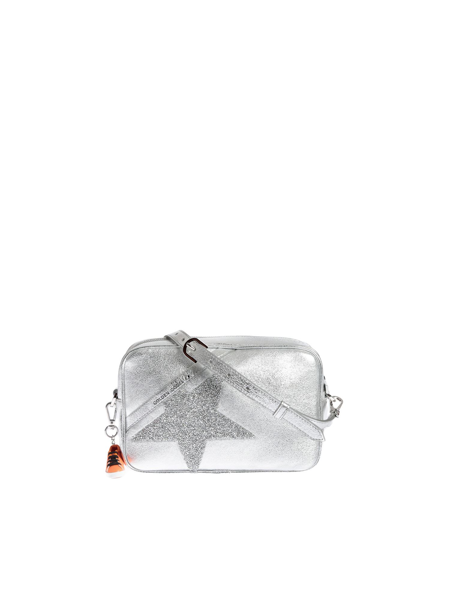 Golden Goose STAR BAG IN SILVER COLOR WITH CRYSTALS