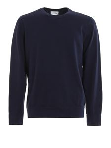 Dondup - Embroidered logo cotton sweatshirt in blue