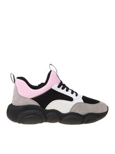 Moschino - Teddy sneakers in black white and pink