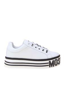 Moschino - Platform sneakers in white leather