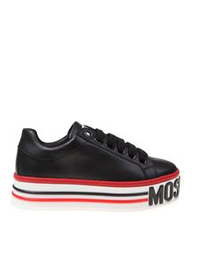 Moschino - Platform sneakers in black leather