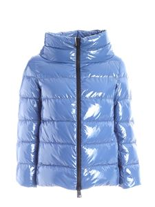 Herno - Coated down jacket in pale blue