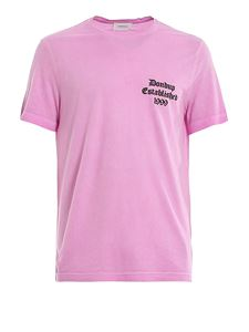 Dondup - T-shirt delavé con stampa logo