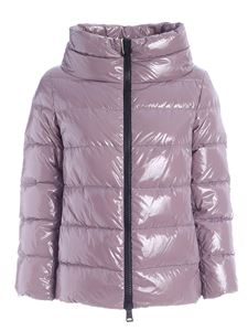 Herno - Coated down jacket in purple