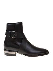 Balmain - Black calfskin pointed ankle boots