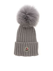 Moncler - Ribbed beanie in grey