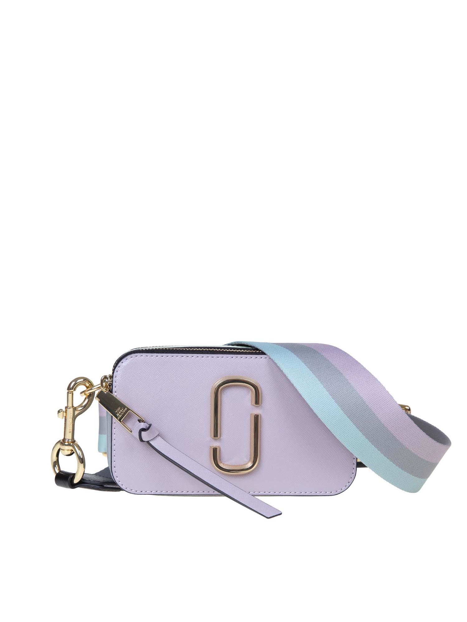 Marc Jacobs THE SNAPSHOT SUGAR LILAC AND LIGHT BLUE BAG