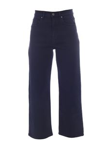 Parosh - Wide leg jeans in blue
