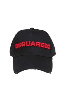 Dsquared2 - Baseball cap in black featuring red logo