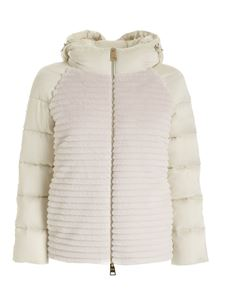 Herno - White quilted down jacket featuring hood