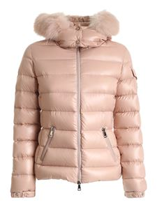 Moncler - Badyfur quilted down jacket in pink