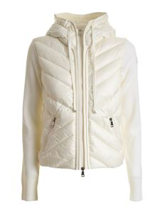 Moncler - Down jacket knitted cardigan in ivory color